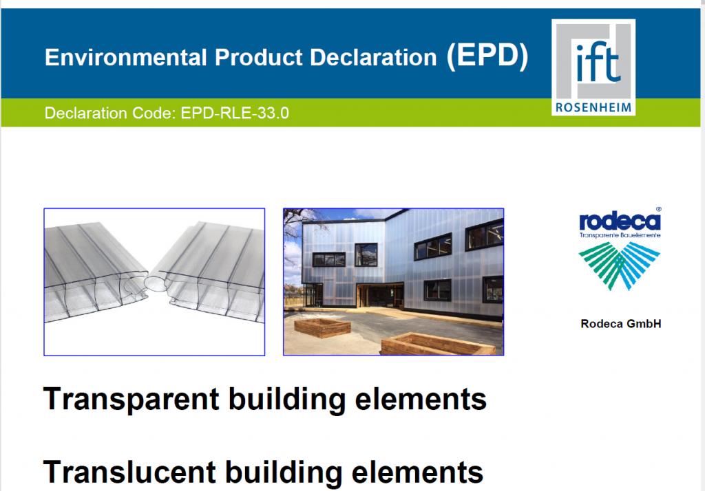 certificado rodeca epd sistemas policarbonato